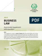 CAF 03 ExaminableSupplement BusinessLaw2015