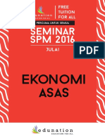 NOTA SEMINAR EKONOMI SPM 2016
