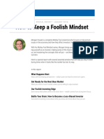 Motley Fool - How to Keep a Foolish Mindset