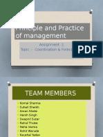 presentation on coordination & forecasting