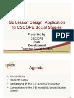 Tuesday 4 5ELessonDesign ApplicationtoSS