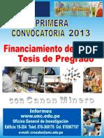 2013 Convocatoria CANON Tesis Pregado