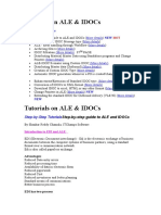 (Ale-idoc) Tutorials on Ale