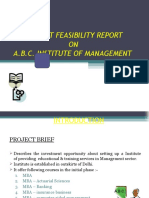 Project Feasibility Report on a Instiutes School College