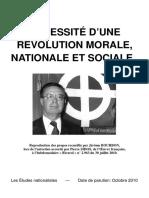 Sidos Pierre - Nécessité d'Une Révolution Morale, Nationale Et Sociale