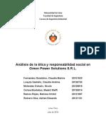 Green Power - diagnóstico de ética y responsabilidad social