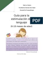 Guía Para La Estimulación Del Lenguaje. enfoque para padres