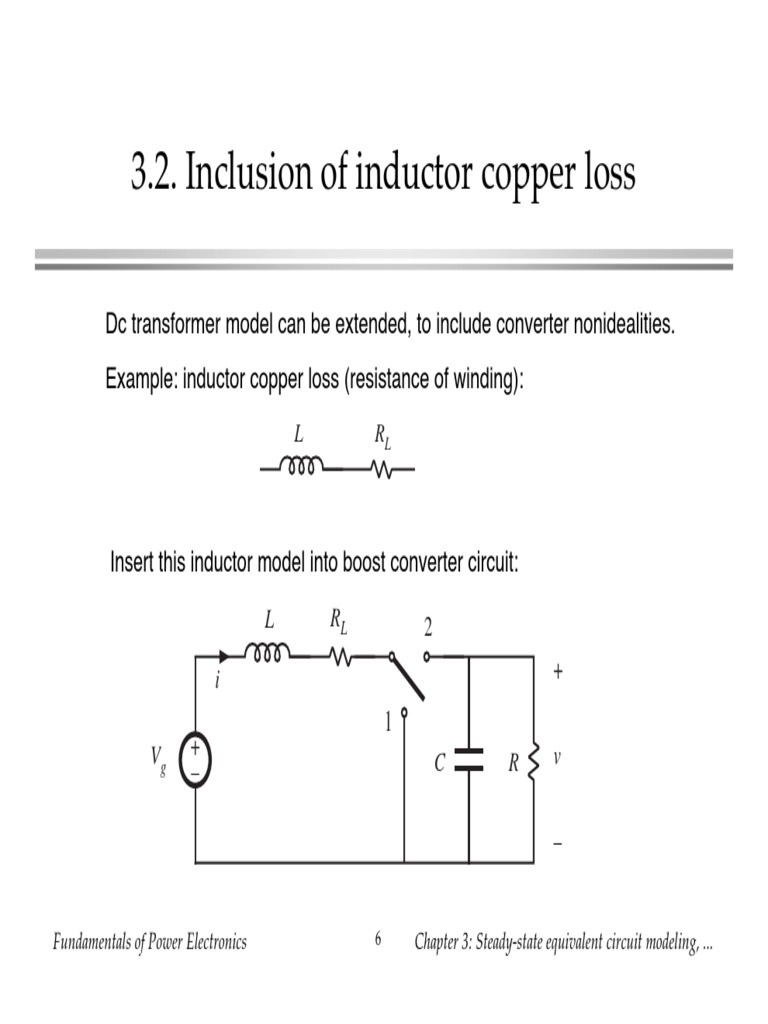 32 Inductor Couper Loss Equivalent Circuit Of A Real