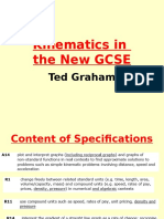 Kinematics in the New GCSE