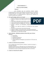 Cuestionario de Valores - Practica II