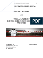 Case Analysis of the Case of Kihoto Hollohon
