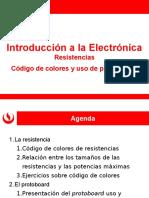 EL166 d Unidad 1 - Resistencias Eléctricas- Codigo de Colores y Uso de Protoboard