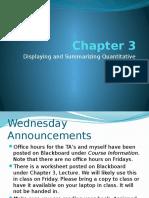 Chapter 3 - Displaying and Summarizing Quantitative Data