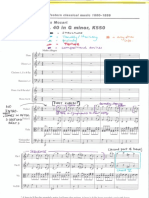 Mozart Annotated Score Symphony no.40