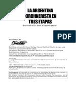 La Argentina Kirchnerista en Tres Etapas