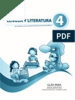 Guia Del Docente Literatura 4to