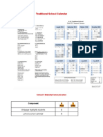 traditional school calendar and website