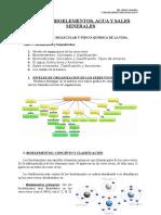 Los Bioelementos y Biomoléculas. Agua y Sales Minerales.