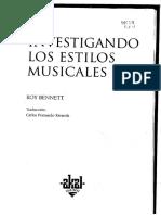 Investigando Los Estilos Musicales - Roy Bennet