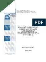 Análisis Cualitativo de Materiales Impresos en La Educación