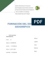 Formacion Del Espacio Geografico TRABAJO