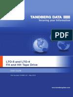 User guide for Lto-4 Lto-5 Tandberg Tape Drives