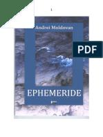 ANDREI MOLDOVAN, EPHEMERIDE