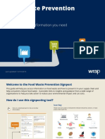 WRAP Food Waste Prevention Signpost Tool 0