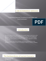Database Implementing the E-Commerce of Doorstep Service