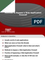 Bypassing Web App Firewalls