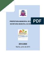 Plano Municipal de Educacao 2015-2025