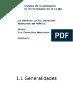 Defensa de Los Derechos Humanos en Mexico Expo 1