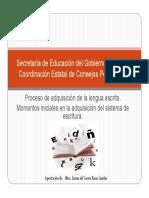 Proceso de Adquisicion de La Lengua Escrita