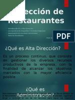 Dirección de Restaurantes