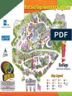 Six Flags Kentucky Kingdom Theme Park Map