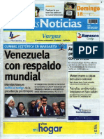 Últimas Noticias Vargas domingo 18 septiembre  de  2016