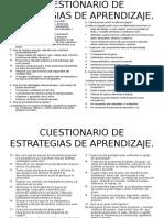 Cuestionario de Estrategias Docentes