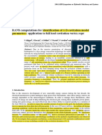 Alli RANS Computations for Identification of 1-D Cavitation Model