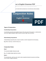 Conjunction Rules in English Grammar PDF