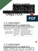 1.3 Lenguajes Orientados a Objetos