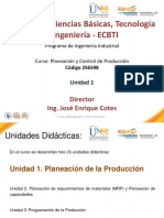 Presentacion Unidad 1 de Planeación de Producción 2016-1