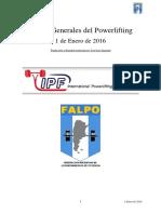 Reglas Powerlifting IPF 2016