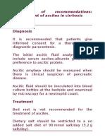 Ascites Management Guiedlines