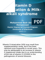 Vitamin D Intoxication & Milk-Alkali Syndrome Assignment