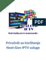 Uputstva Za Koristenje Next-Gen IPTV
