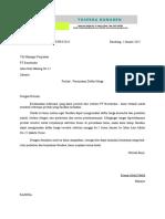Surat Permintaan Penawaran Harga Barang