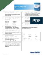 PDF Wonderlic 022312