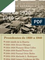 México 1920-1940