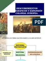 Descubrimientos Geograficos y Expansion Colonial Europea