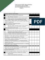 grade 1 techskills checklist